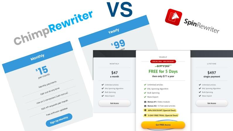 SpinRewriter vs ChimpRewriter – which one is better? Comparison 2021